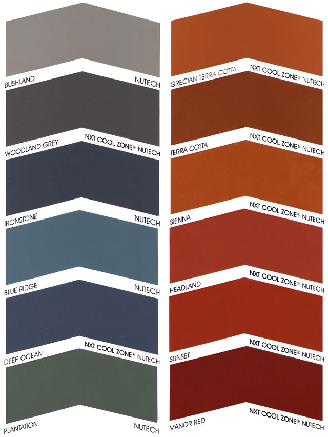 Colour Selections Roof Restorations Perthroof