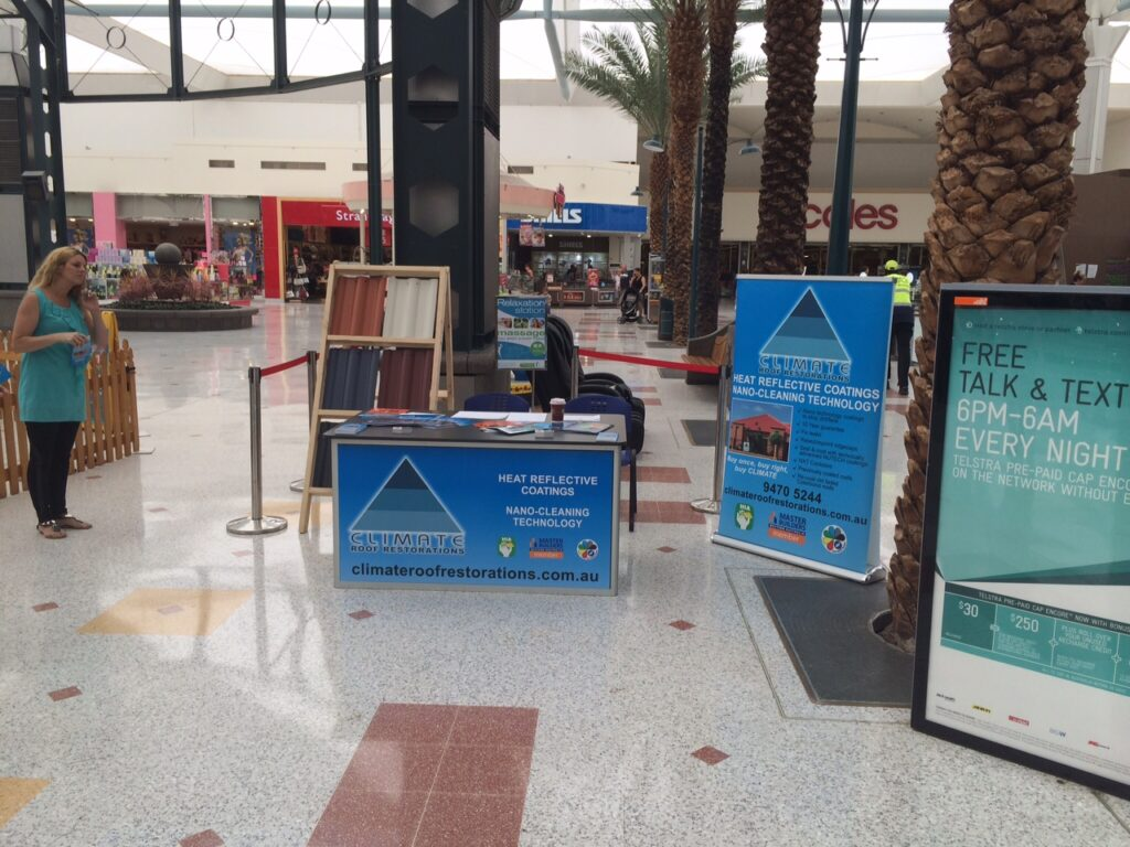 Climate Roof Restorations Was At Joondalup Shopping Centre